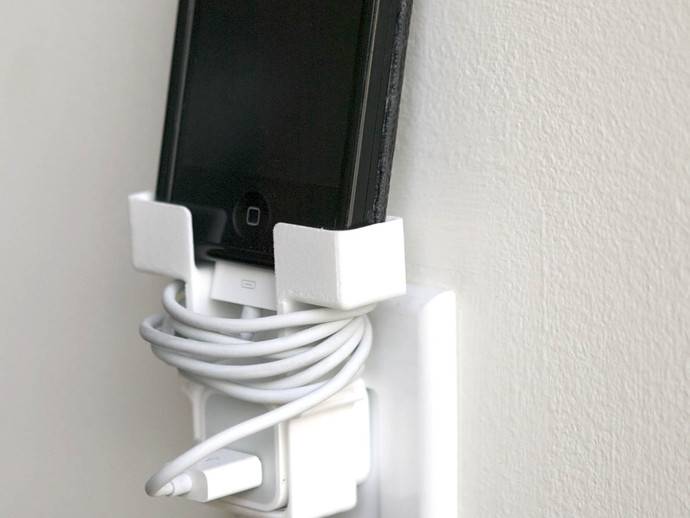 Iphone Wall Plug Holder By Danbot Thingiverse