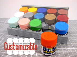 Paint Bottle Holder Customizable