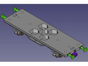 H0 scale wagon chassis compatible with Hobby series