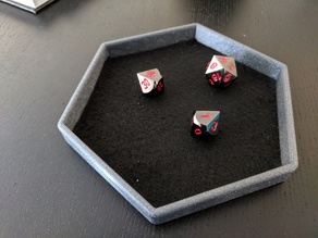 Yet another hexagonal dice tray