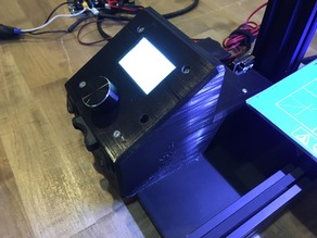 Ender 2 Control Box with SD converter and light switch