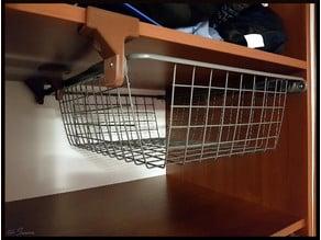 Ikea KOMPLEMENT basket hanging holder
