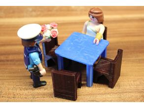 restaurant table (4 persons) [playfab 181005, playmobil compatible]