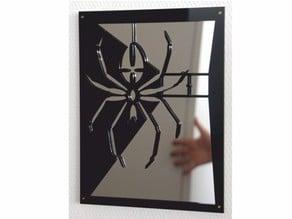 "Spidermirror laser cut acrylic picture 12x9"""