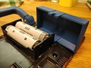 Cover for 18650 battery box holder