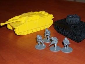 Tank Stug scale 28 mm