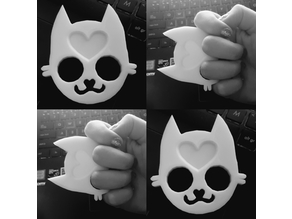 Cute cat knuckle duster keychain | self defense