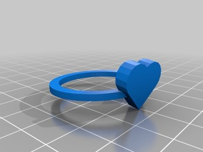 heart ring size 11 = 26x26 mm
