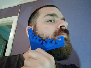 Winter beard shaping tool