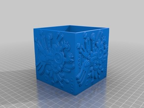 Aztec relief box