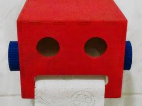 Robot Head Toilet Paper Holder - CNC Router Version