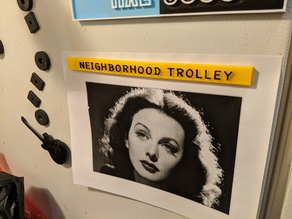 Mr. Rogers' Neighborhood Trolley Sign - refrigerator magnet
