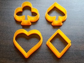 Cookie Cutters spades, hearts, diamonds, clubs (Cardgame symbols)