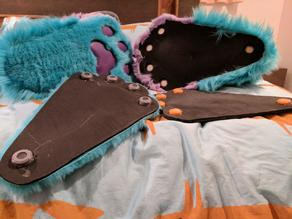 Fursuit (and costume) feet magnet holders