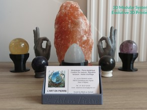 3DMS - Business Card Stand for l'Art en Pierre mineral stone shop