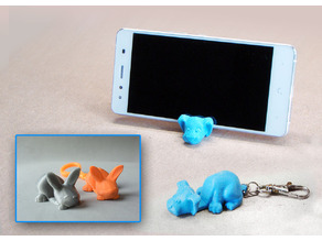 Keychain / Smartphone Stand (Dog and Bunny)