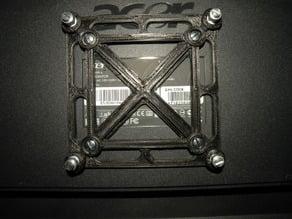 Printable Parametric VESA 75/100 Adaptor for Mounting ITX Cases Etc.