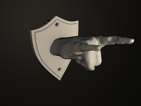Guitar hanger / hook in the shape of a hand