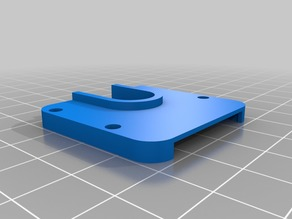 Anycubic Kossel E3D mount with 30mm and radial fan mount