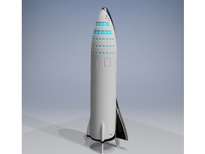 SpaceX BFR/Interplanetary Spaceship v2017 (with booster and landing legs)