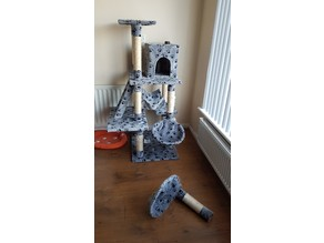Cat Condo / activity scratching Pole repair kit. (For owners of fat cats)