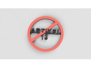 Artikel 13 Protest-Anhänger