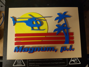 Magnum P.I 80's TV Show Tom Selleck Higgins TC Island Hoppers Ferrari