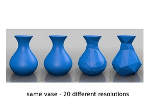 same vase - 20 different resolutions