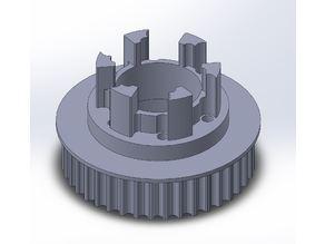 Longboard ABEC 11 Flywheels - Flywheel Clones - MBS All Terrain Wheels - CNC 40T Single Piece Pulley for 9mm, 12mm, 15mm Belts