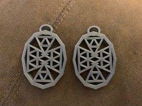 Triangle Pattern Earrings
