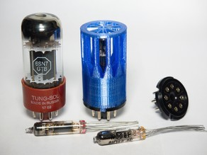 Submini vacuum tube assembly for octal sockets