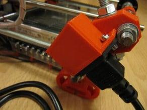 Footplate 230V Plug for Prusa frame - easy on