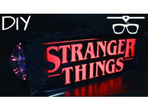 Stranger Things Lamp / Luminária