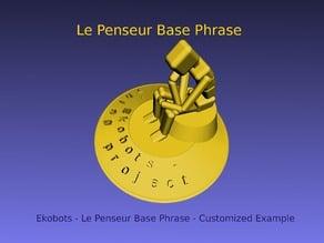 Lauro Antico - Ekobots - Le Penseur Base Phrase