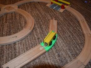 Brio and Ikea railroad compatible 45 degrees turn part.