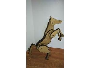Articulated horse laser cut