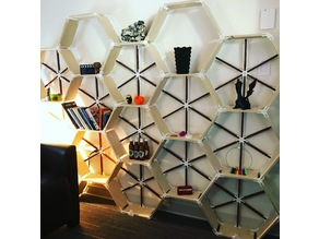 Hex-a-shelves (with other brackets as well)