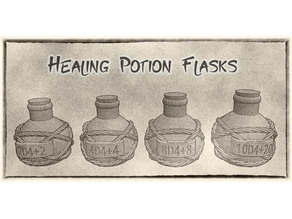 Healing Potion Bottles For Dungeons & Dragons or Other Fantasy Tabletop Games