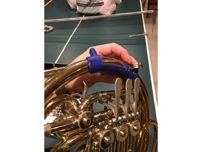 French horn hand rest