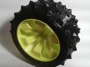 Parametric Tyre for OpenRC Truggy Wheel