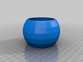 My Customized parametric spheroid pot