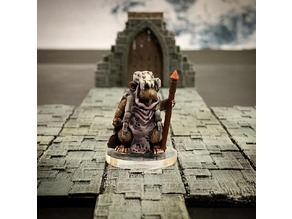 Ratfolk Druid Mother (32mm scale)