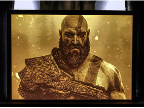 Kratos lithophane (small version)