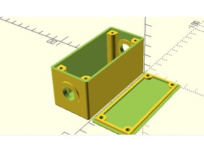 Customizable Project Box With Lid Screws and 2 Holes