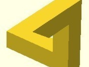 Penrose Triangle Classic Version