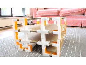 Construye tus propios muebles de cartón con este sistema de broches