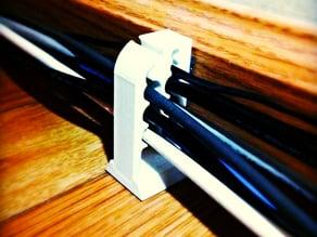 Baseboard Mountable Cable Organizer