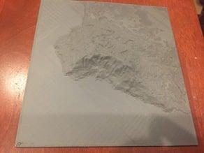 Palos Verdes 3D Topographic Map
