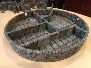 OpenForge 2.0 Dungeon Stone Large Curved Interior Walls