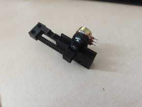 Spring loaded linear converter Potentiometer